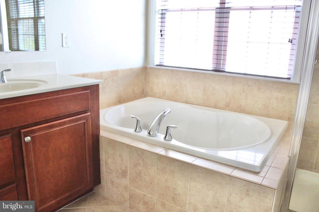 Master bath with large garden tub - 4025 BRIDLE RIDGE RD, UPPER MARLBORO