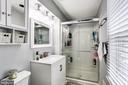Updated Master Bath w/ New Vanity & Flooring - 7924 BUTTERFIELD DR, ELKRIDGE