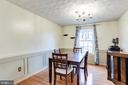 Dining Room w/ Chair Rail & Custom Molding - 7924 BUTTERFIELD DR, ELKRIDGE