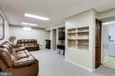 Lower Level Rec Room w/ Built-Ins - 7924 BUTTERFIELD DR, ELKRIDGE
