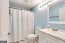 Hall Full Bath w/ New Vanity & Flooring - 7924 BUTTERFIELD DR, ELKRIDGE