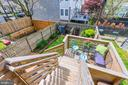 Walk out deck from family room - 4604 9TH ST NW, WASHINGTON