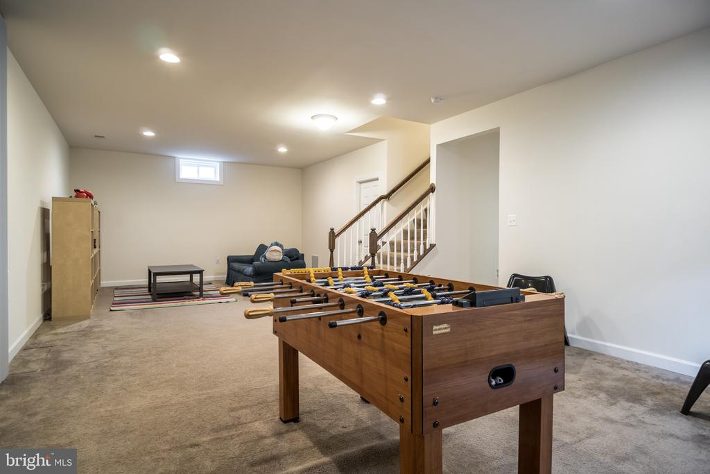 Lower level rec room - 102 ALMOND DR, STAFFORD