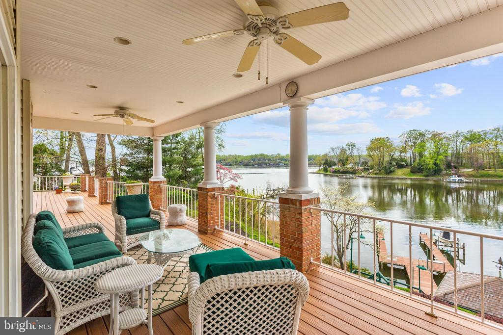 Covered Waterside Deck - 1128 ASQUITH DR, ARNOLD