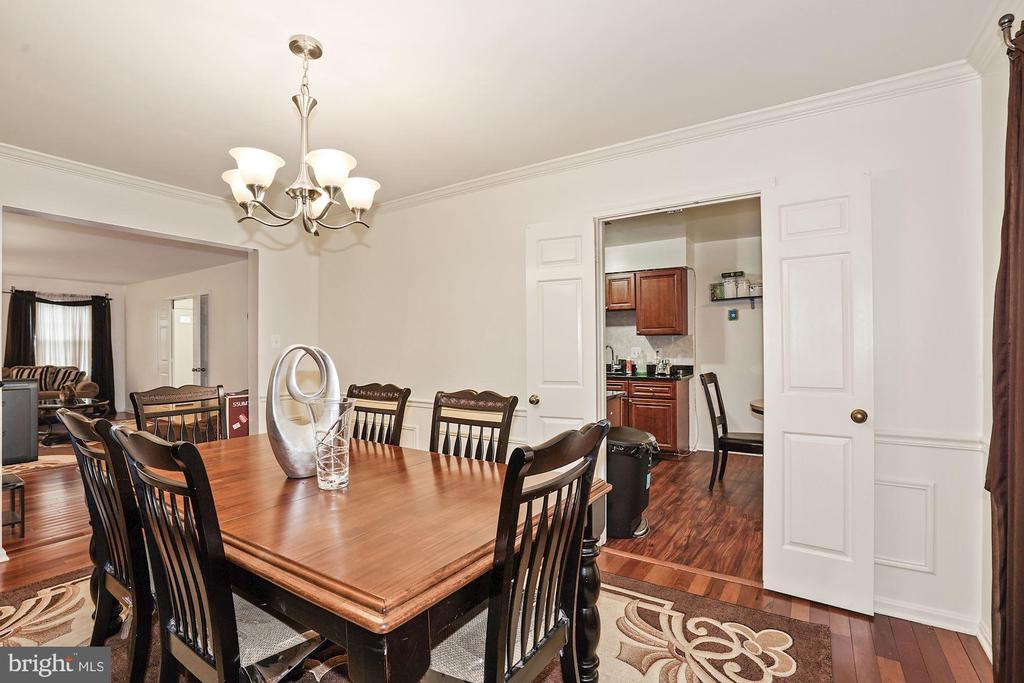 Dining Area with Hardwood flooring - 3005 SEVEN OAKS PL, FALLS CHURCH