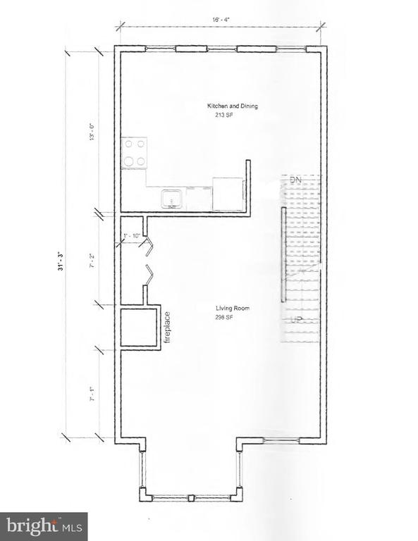 2nd Level Floor Plans - 601 NORTH CAROLINA AVE SE, WASHINGTON