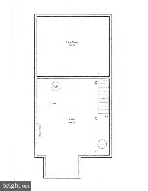 Mechanical Cellar Floor Plans (below basement) - 601 NORTH CAROLINA AVE SE, WASHINGTON