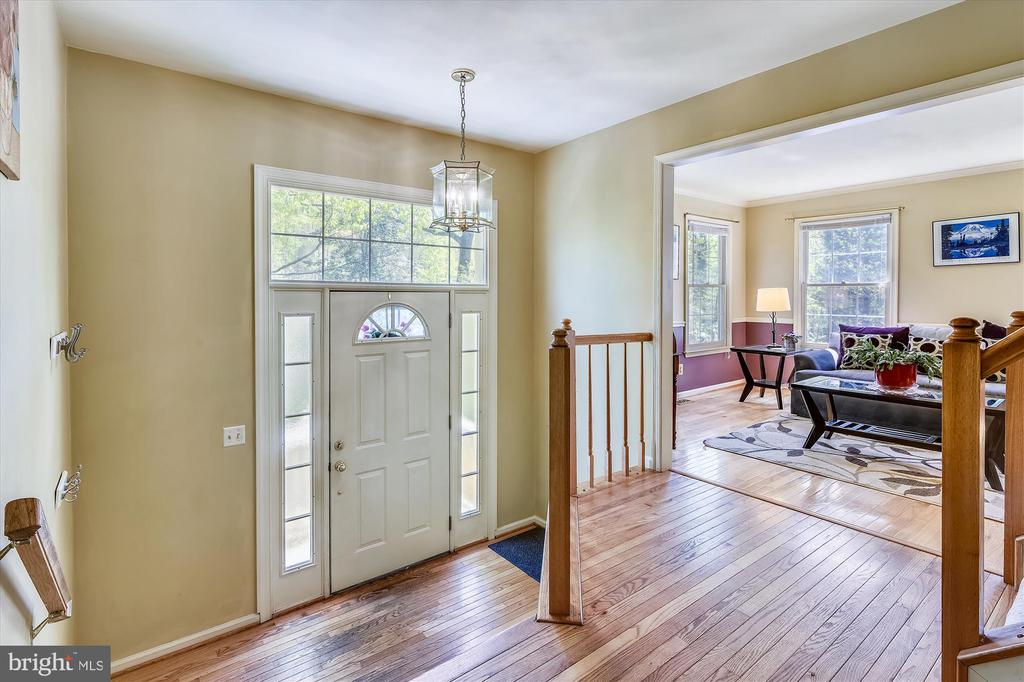 Sunny and open main level with hardwood flooring - 2026 FARRAGUT DR, STAFFORD