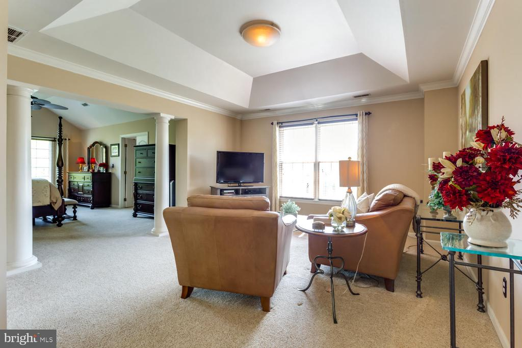 Large sitting room with coffered ceiling - 10892 HUNTER GATE WAY, RESTON