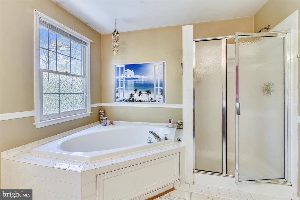 Large soaking tub and a standup shower! - 2026 FARRAGUT DR, STAFFORD