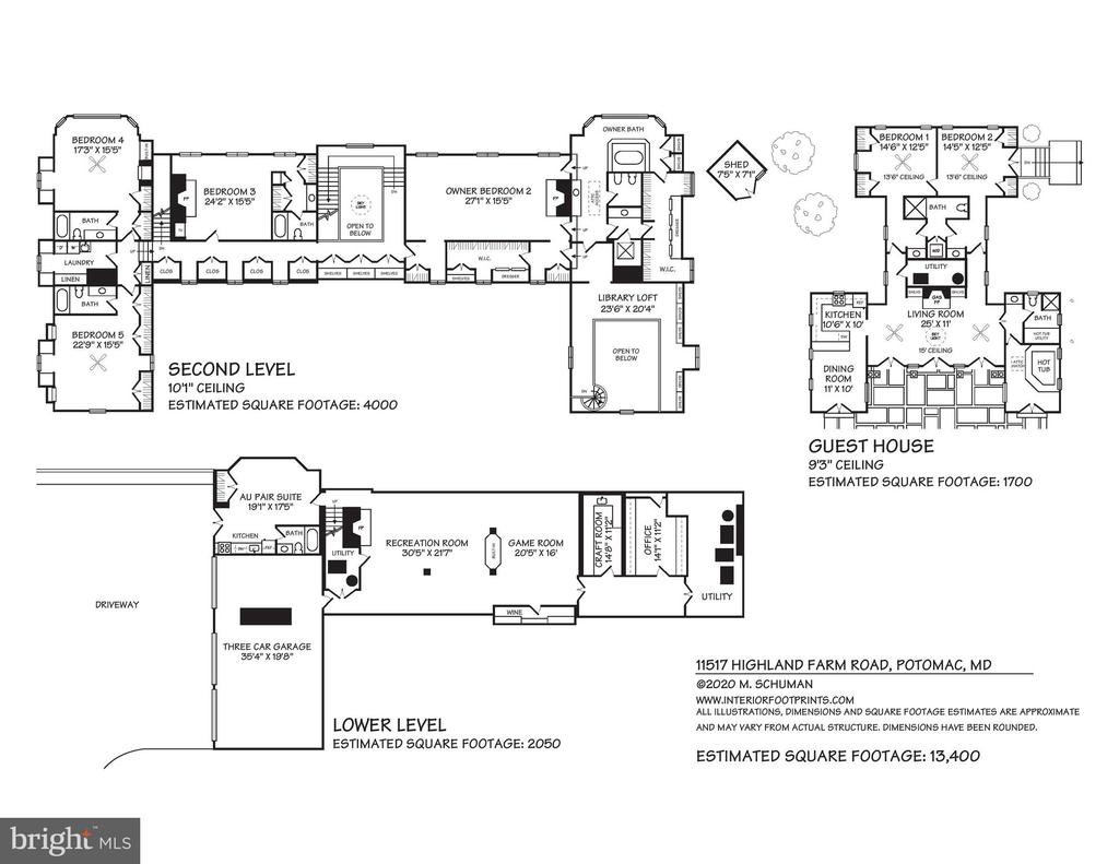Floor Plans - 11517 HIGHLAND FARM RD, POTOMAC
