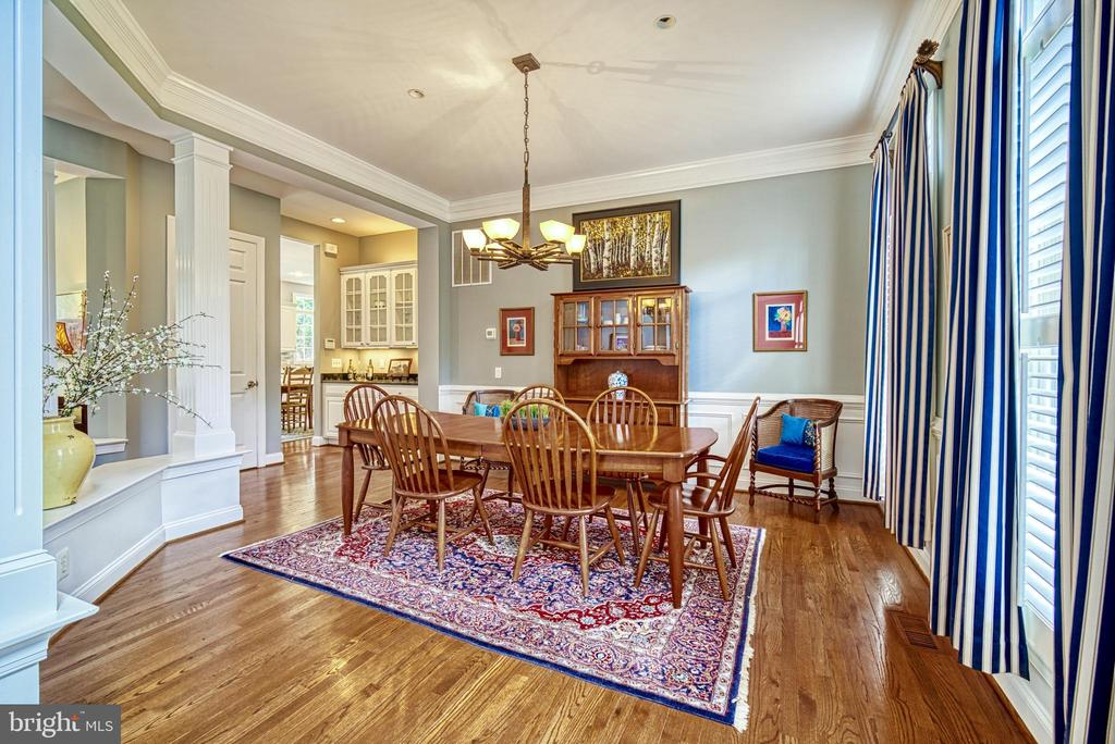 Across from the living room is a the dining room - 2704 SILKWOOD CT, OAKTON