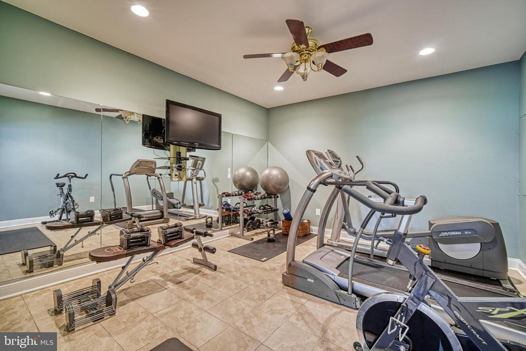The lower level even has an exercise room! - 2704 SILKWOOD CT, OAKTON