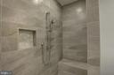 Tiled Luxury Master Shower with Sprayer & Bench - 1430 AQUIA DR, STAFFORD