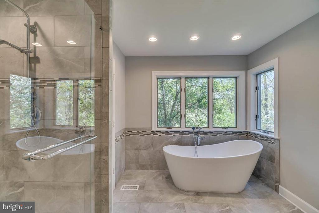 Gorgeous updated Master Bath - 6 RIVER OAK PL, FREDERICKSBURG