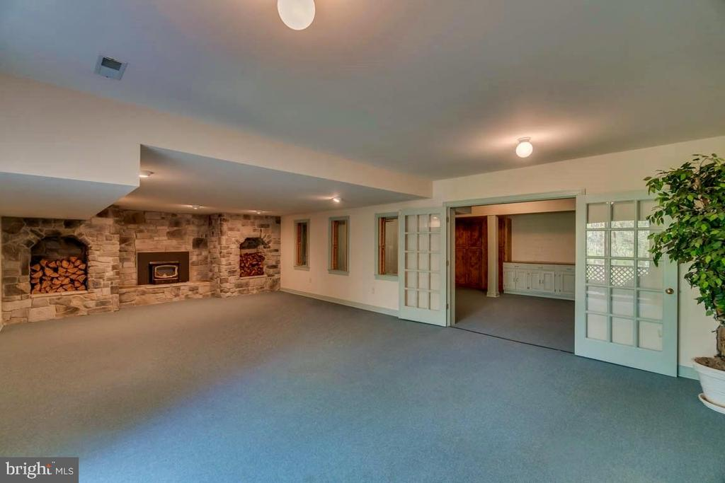 Huge Rec Rm with Stone Fireplace and  Deck access - 6 RIVER OAK PL, FREDERICKSBURG