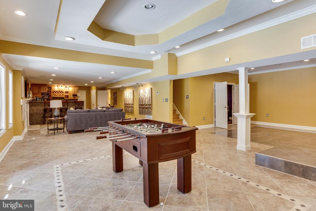 Game Room/Entertaining Space in Basement - 7780 KELLY ANN CT, FAIRFAX STATION