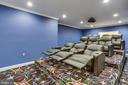 Incredible Theater w/ True Stadium Seating - 7780 KELLY ANN CT, FAIRFAX STATION