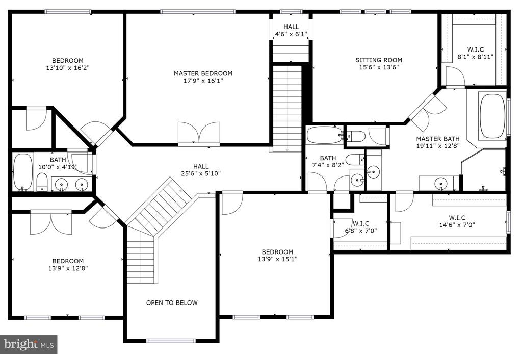 Awesome bedrooms sizes and master is wonderful - 2704 SILKWOOD CT, OAKTON