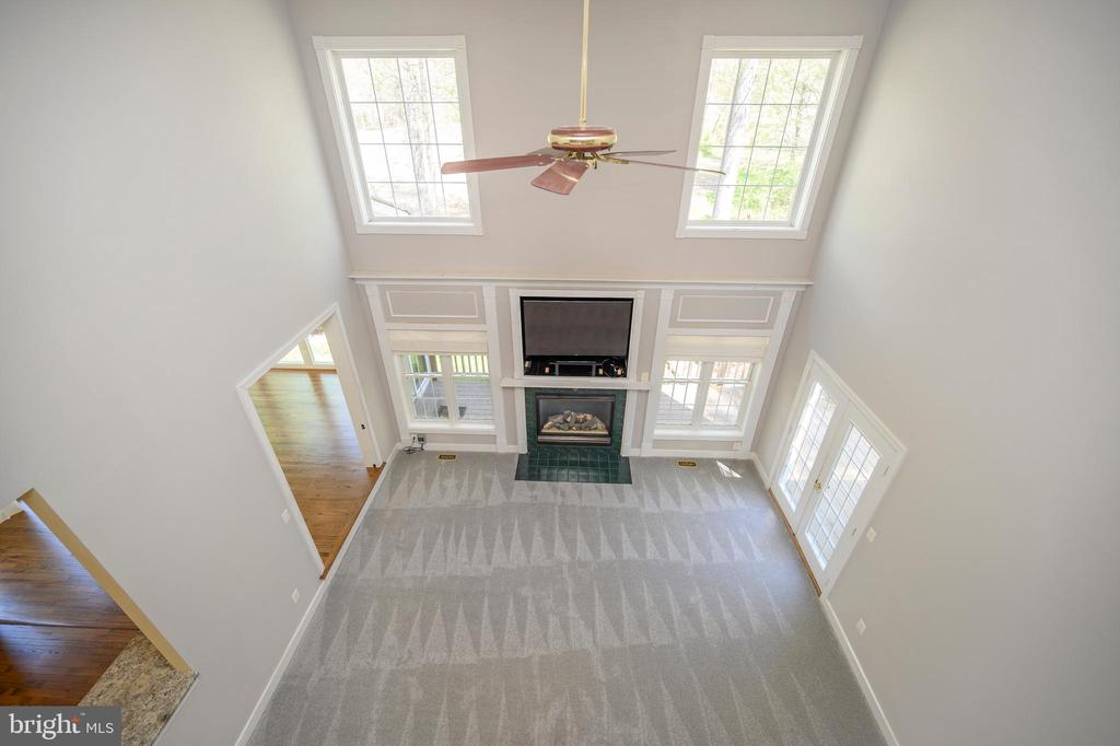 Another look down at family room from above - 42 LIGHTFOOT DR, STAFFORD