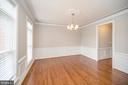 Formal dining room with large windows - 42 LIGHTFOOT DR, STAFFORD