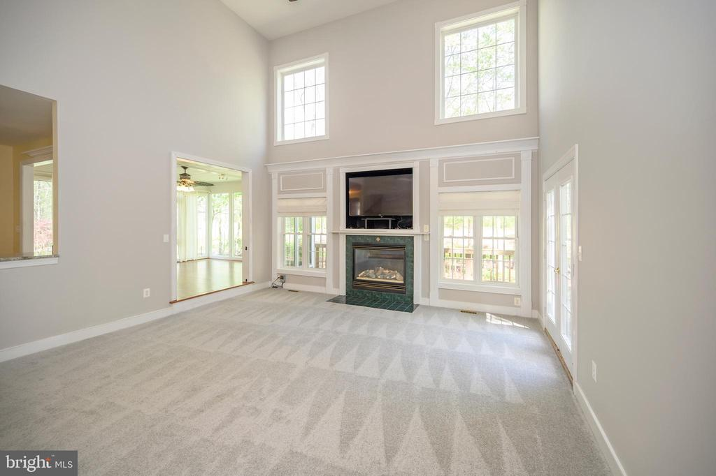 Large 2 level ceilings step down family room/FP - 42 LIGHTFOOT DR, STAFFORD