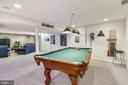 Pool table conveys with sale! - 20756 LAPLUME PL, ASHBURN