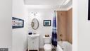 Full bath with designer tile - 31 CRAWFORD LN, STAFFORD