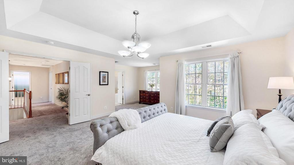 Master bedroom with tray ceiling - 31 CRAWFORD LN, STAFFORD