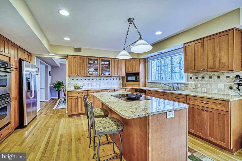 Granite counters and SS appliances - 12216 HEATHER WAY, HERNDON