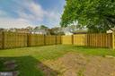 Large Backyard with Brand New Fence - 4727 HEDRICK LN, WOODBRIDGE