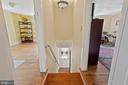 Traditional farmhouse stair w/ stained glass light - 17350 DRY MILL RD, LEESBURG