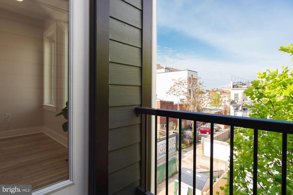 Balcony off of Master Bedroom - 802 10TH ST NE #2, WASHINGTON