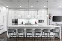 Gourmet Kitchen + 13' Waterfall Quartz Island - 44665 BRUSHTON TER, ASHBURN