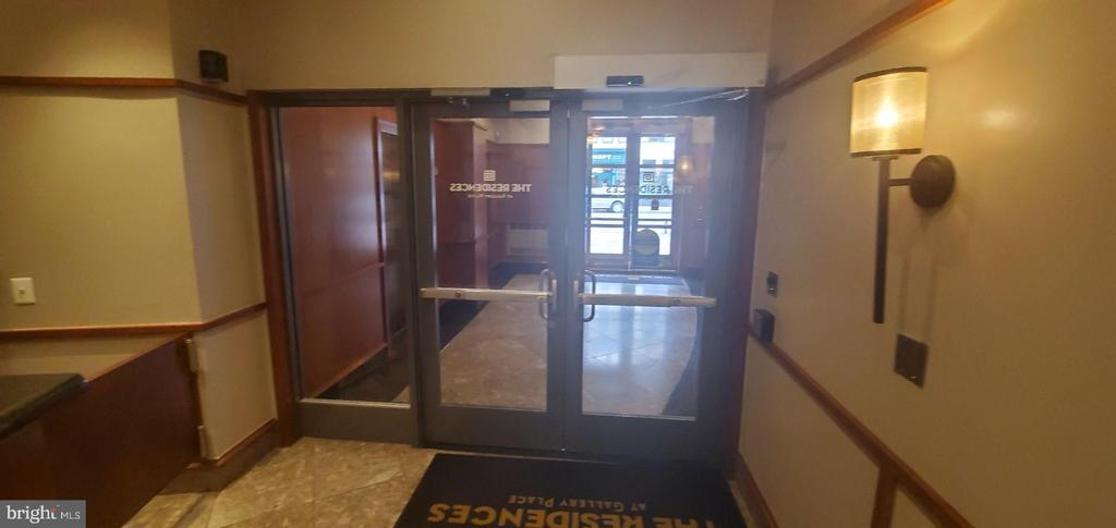 2 secured double entrance doors - 777 7TH ST NW #518, WASHINGTON