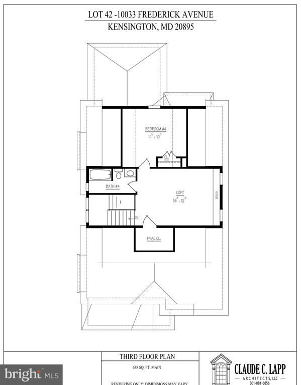 Third Level Floor Plan - 10033 FREDERICK AVE, KENSINGTON