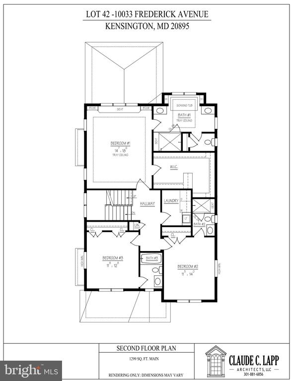 Second Level Floor Plan - 10033 FREDERICK AVE, KENSINGTON
