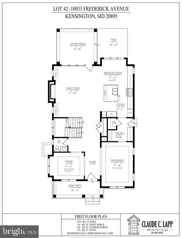 Main Level Floor Plan - 10033 FREDERICK AVE, KENSINGTON