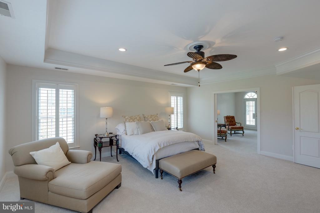 Master Bedroom with Private Sitting Room or Office - 16329 LIMESTONE CT, LEESBURG