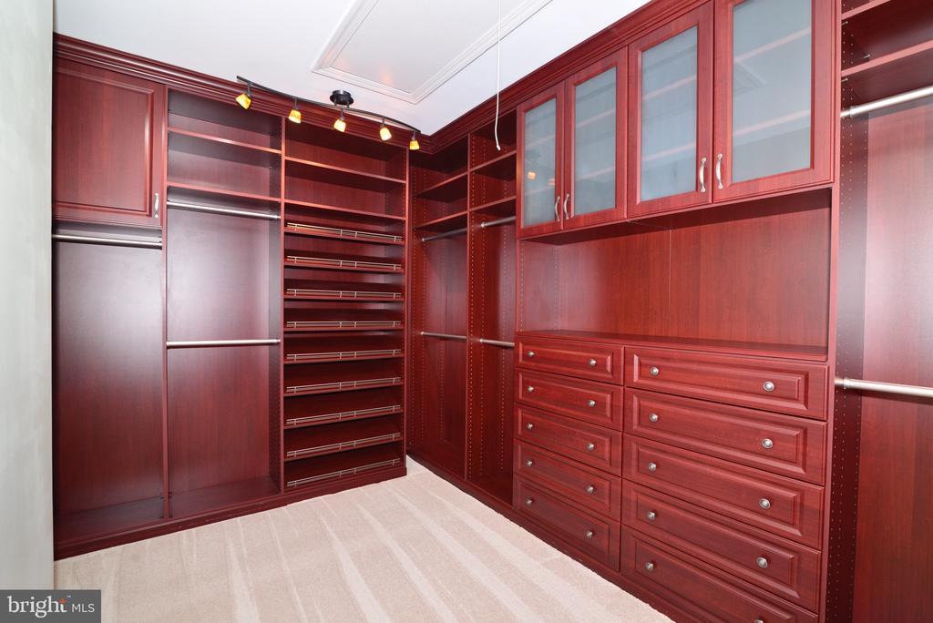 Custom Master Walk-In Closet. - 18229 CYPRESS POINT TER, LEESBURG