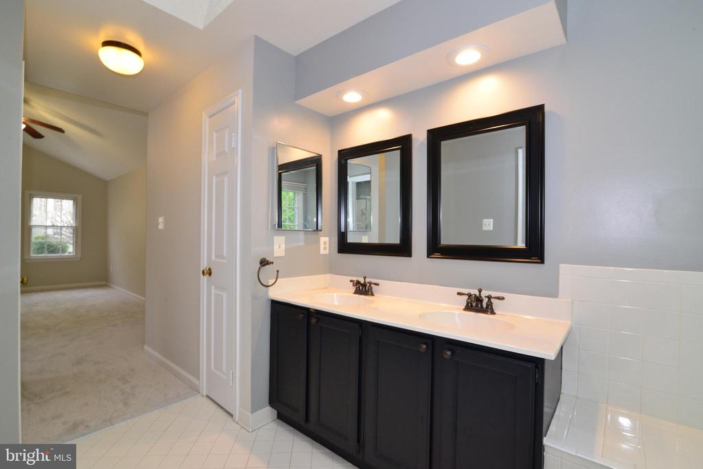 Master Bath double Vanity - 11612 OLD BROOKVILLE CT, RESTON