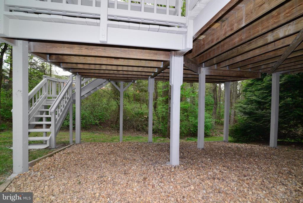 View from under the Deck - 11612 OLD BROOKVILLE CT, RESTON