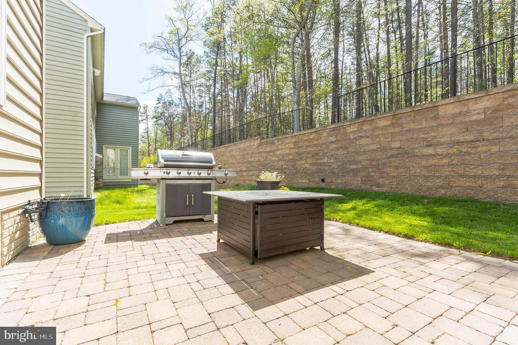 Nice patio for backyard BBQ - 17 WAGONEERS LN, STAFFORD
