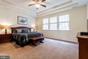 Double tray ceiling in master bedroom - 17 WAGONEERS LN, STAFFORD