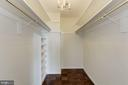Walk-in Closet - 4620 N PARK AVE #1005E, CHEVY CHASE