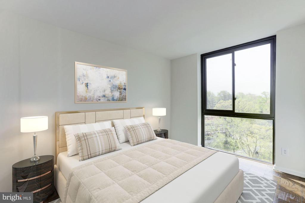Bedroom #2 Virtually Staged - 4620 N PARK AVE #1005E, CHEVY CHASE