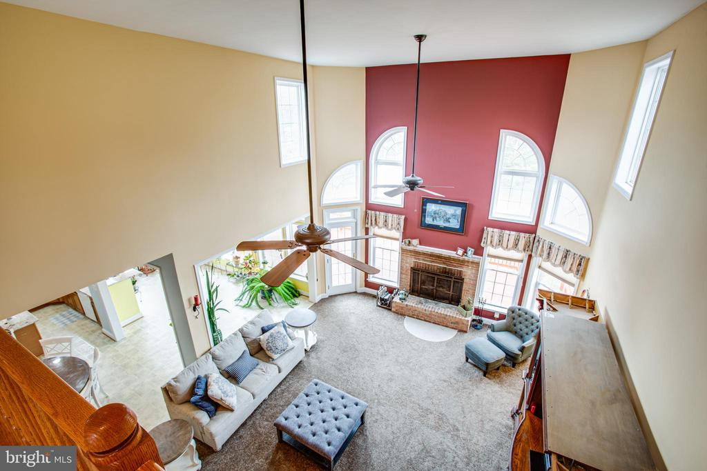 overlook to family room - 12504 SINGLE OAK RD, FREDERICKSBURG