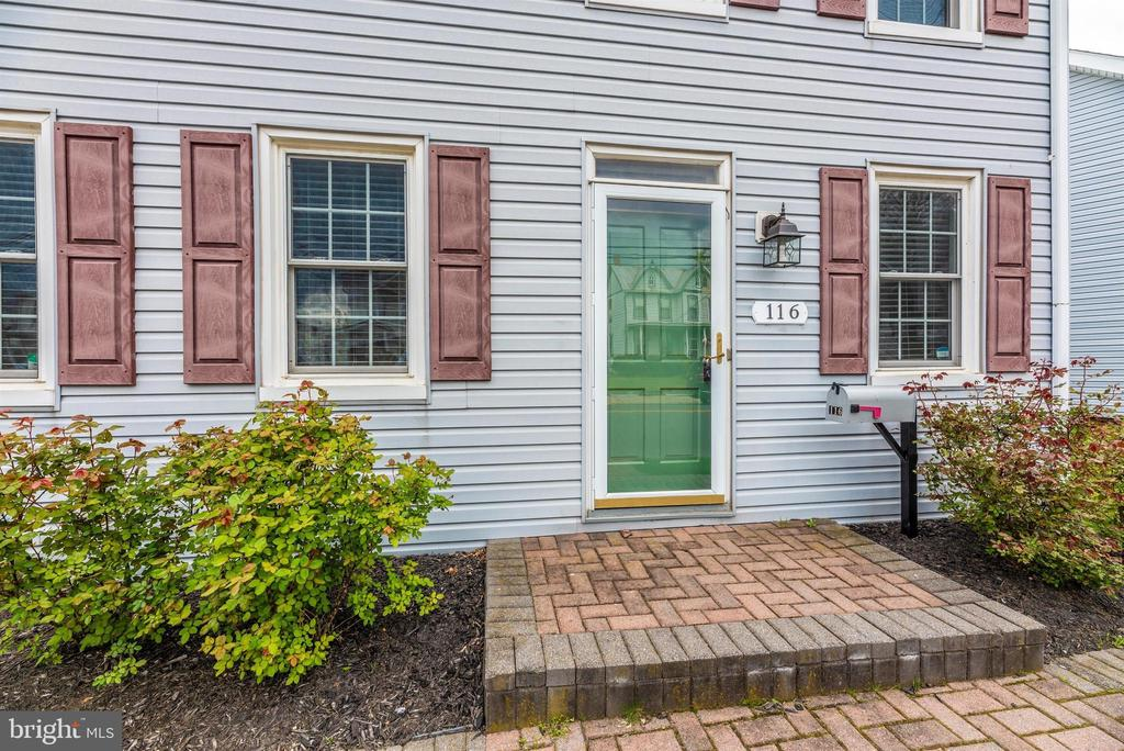 Front Entrance with porch and Storm Door - 116 S JEFFERSON ST, FREDERICK