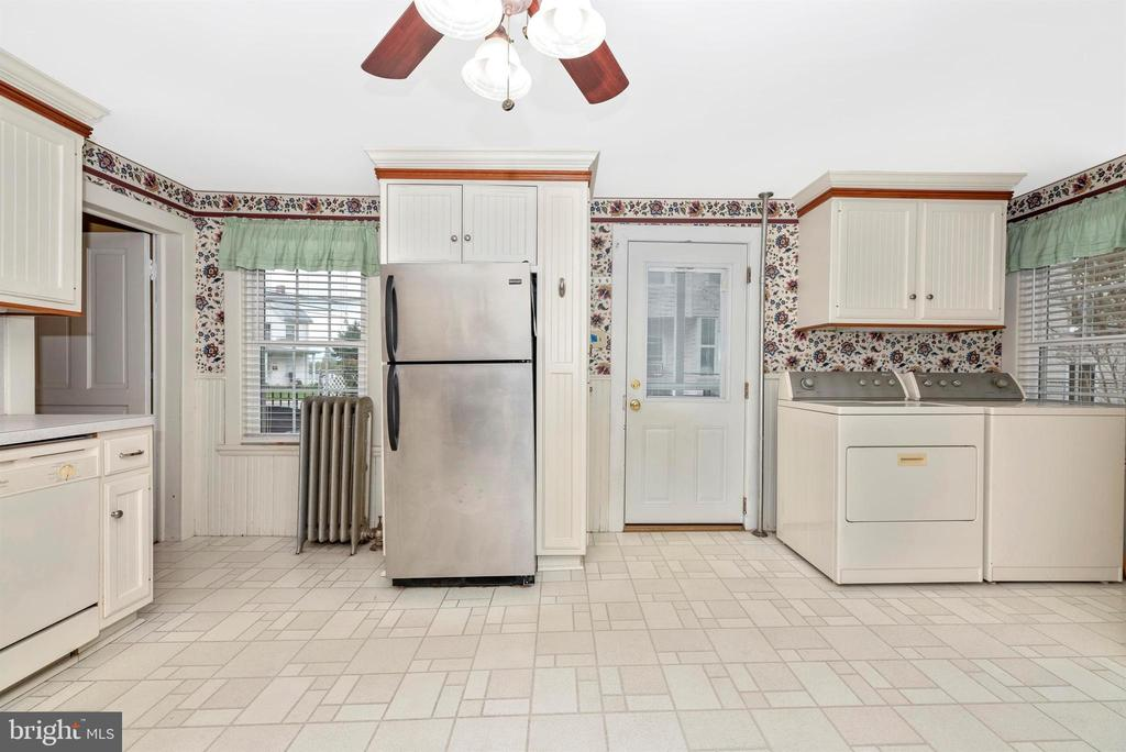 Kitchen with Stainless Steel Refrigerator - 116 S JEFFERSON ST, FREDERICK
