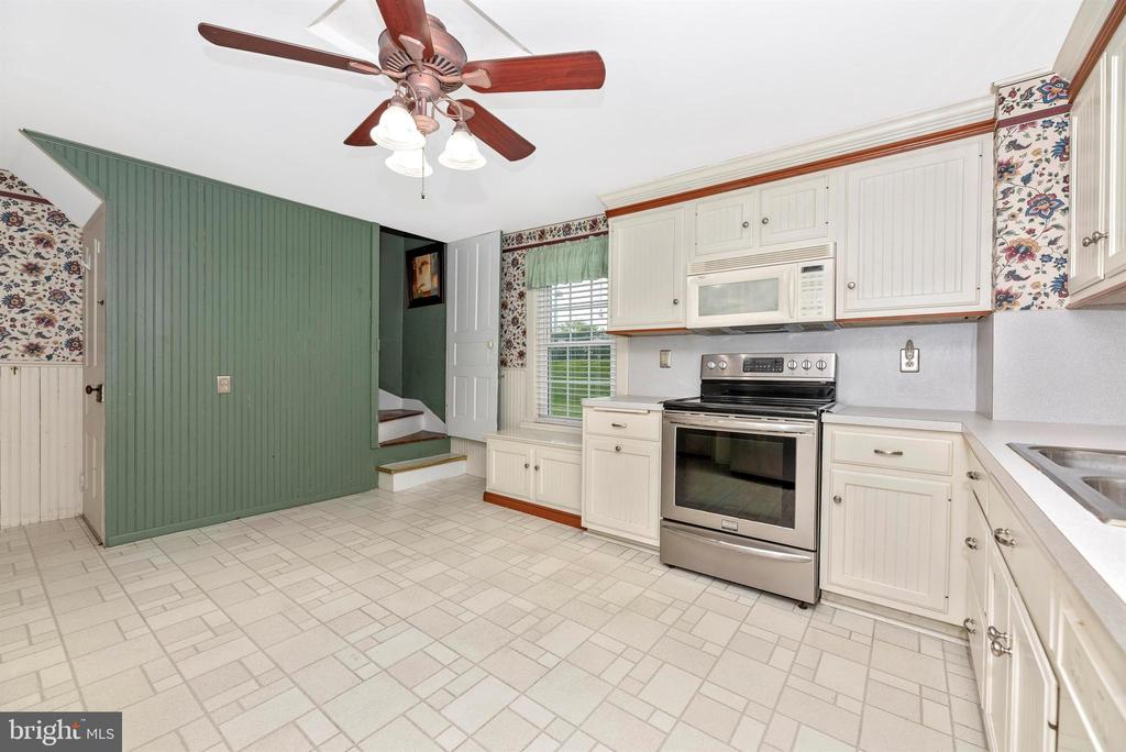 Kitchen with Rear Staircase - 116 S JEFFERSON ST, FREDERICK